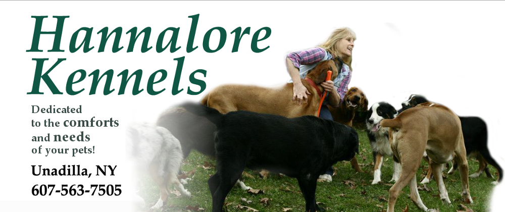 Hannalore Kennels Dedicated to the Comforts and Needs of your pets Unadilla NY 607-563-7505